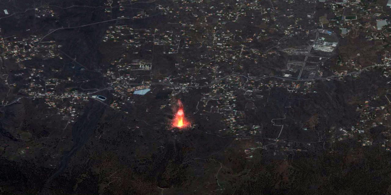 """<span class=""""entry-title-primary"""">A erupção do vulcão em La Palma vista do espaço</span> <h2 class=""""entry-subtitle"""">Astronauta e satélites da Maxar Technologies registram do espaço a lava sendo emitida pelo vulcão Cumbre Vieja</h2>"""