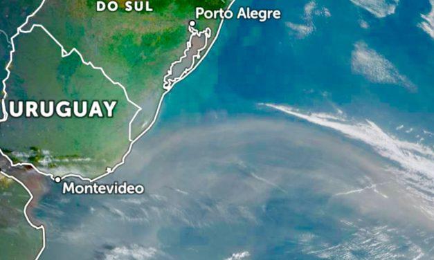 Nuvem de poeira da Patagônia alcança o Sul gaúcho