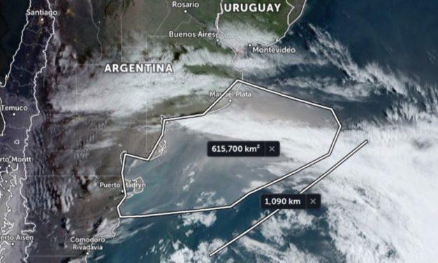 Nuvem gigante de poeira avança pelo Atlântico Sul