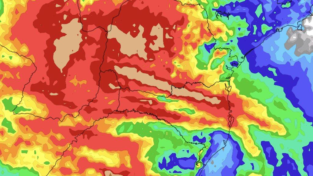 """<span class=""""entry-title-primary"""">Previsão do tempo – Chuva volta com força ao Sul do Brasil</span> <h2 class=""""entry-subtitle"""">Duas ondas de instabilidade até o final da semana devem trazer altos volumes de chuva e risco de temporais de vento forte e granizo</h2>"""