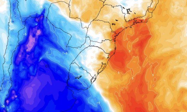 Massa de ar frio provoca neve no Centro da Argentina e trará noites frias